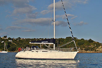 Dufour 35 anchored