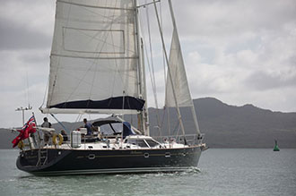 Oyster yacht sailing