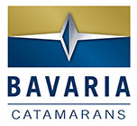 Bavaria Catamarans gold and blue logo
